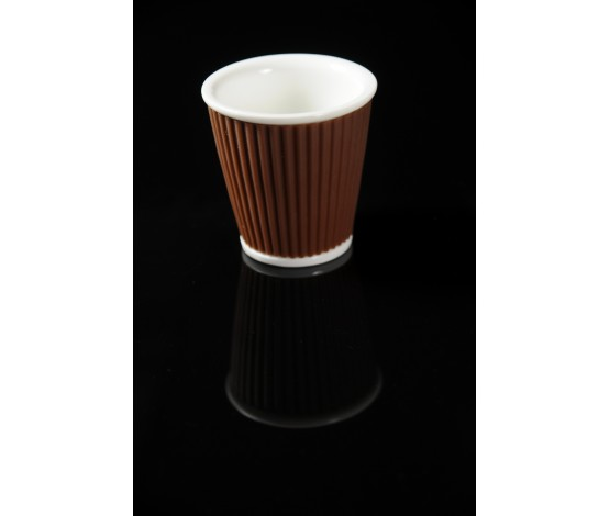 10cl Espresso Cup - White/Brown