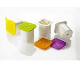 Set of 4 yoghurt cups