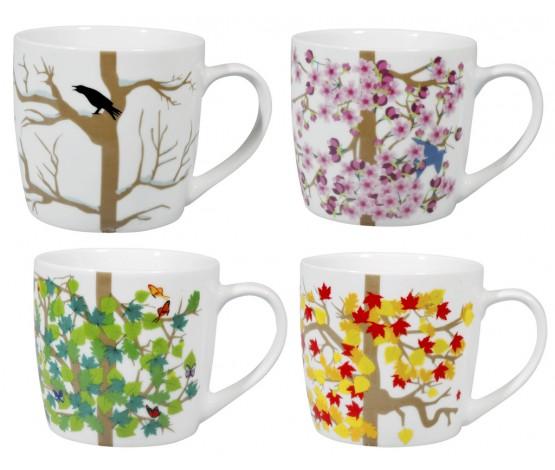 4-Seasons Mugs Set/4