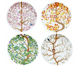 4 Seasons Plates Set/4