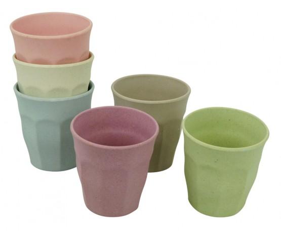 Cupful of Colour cups set/6 DAWN