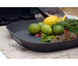 FourSquare Serving Mate Tray BLACK
